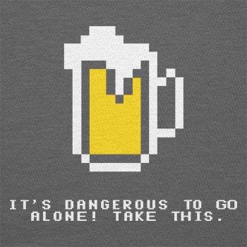 Texlab–Dangerous Beer–sacchetto di stoffa Grau