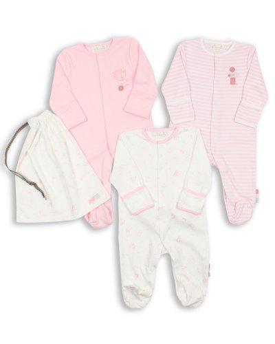 ff9eaa22471c7c The Essential One - Pijama para bebé - Paquete de 3 - Primera Puesta ESS74