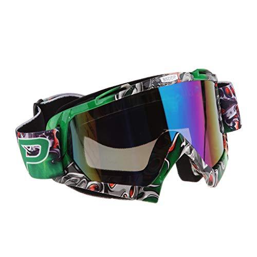 Homyl Mascherina Occhiali Motocross Enduro Sci Snowboard Antivento Antipolvere Antigraffio - A011 Specchio colorato