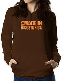 Teeburon 100 made in Costa Rica Sudadera con capucha para mujer