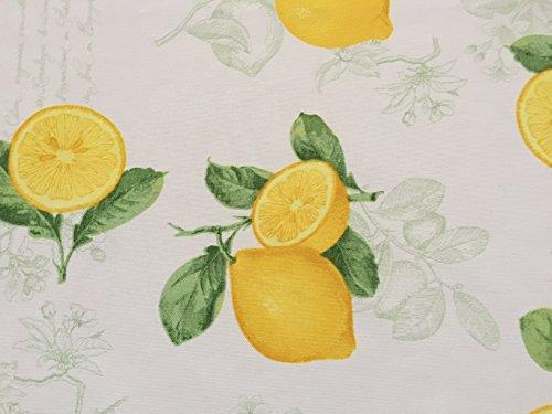 Wunderschöner Dekostoff mit Zitronen, Meterware, Breite 160cm, Panama-PE von Provencestoffe