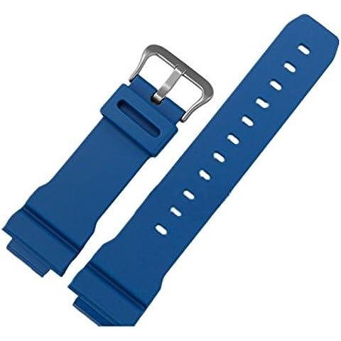Zhuhaixmy Blue Naturale Resina Orologio Cinturino Fascia per Casio G-SHOCK DW-6900MM-2