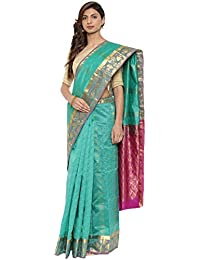 CLASSICATE From the house of The Chennai Silks Traditional Silk Saree With Bentex Border (CCMYSS10388 - Emerald Green)