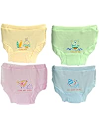Baby Basics - Soft Cotton Baby Girl's & Boy's Panties - Multicolor (Pack of 4)