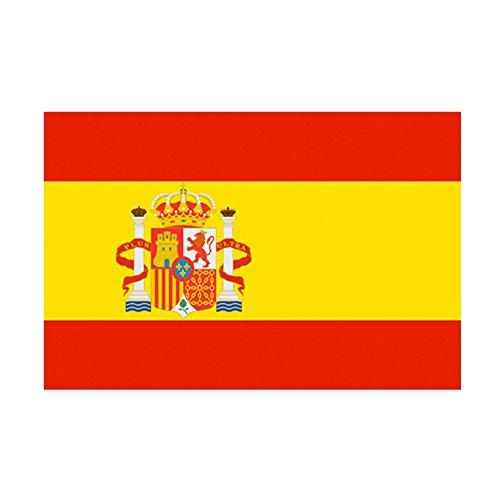 Taffstyle® Fanartikel Fussball Weltmeisterschaft WM & EM Europameisterschaft 2016 Länder Flagge Fahne 150cm x 90 cm mit Metallösen - Spanien