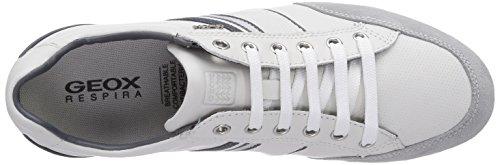 Geox U HOUSTON A, Low-Top Sneaker uomo Bianco (Weiß (WHITEC1000))