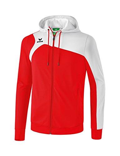 Erima Kinder Club 1900 2.0 Trainingsjacke mit Kapuze, Rot/Weiß, 152