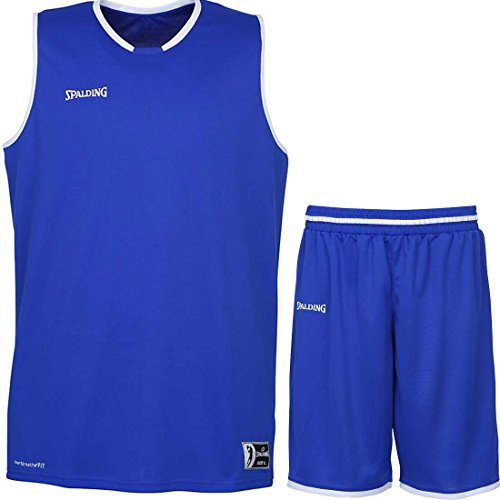 Spalding Basketball Kombi Trikot Set Move Trikot + Shorts für Kinder und Erwachsende Verschieden Farben (Blau/Weiß, 152)