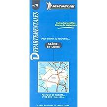 Carte routière : Saône-et-Loire, 4071, 1/150000  (Français - Néerlandais)