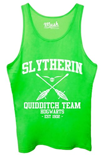 Canotta SLYTHERIN QUIDDITCH HARRY POTTER - FILM by Mush Dress Your Style - Uomo-M-Verde acceso