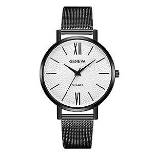 Damen Herren Mode Beiläufig Uhren Dünne Edelstahl Band Analoge Quarz Armbanduhr Billig Uhr