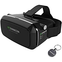 VR 3D vr Headset 360 ° Visualización Immersive Virtual Reality Headset para películas 3D Videojuegos VR box, Compatible con iPhone 7 Plus / 6s Plus Serie Samsung Galaxy (VR Headset)
