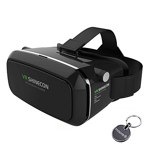 VR Headset 3D VR Glasses 360° Viewing Immersive Virtual Reality Headset for 3D Movies Video Games, Compatible with iPhone 7 / 6s Samsung Galaxy Series and Other Smartphone(Black)