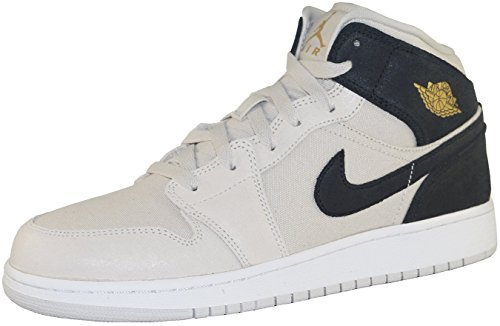 Nike Jungen 554725-009 Basketballschuhe Beige/Schwarz