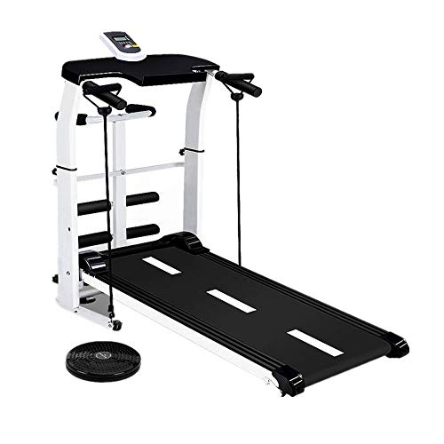Cinta de correr plegable Send Hyun Treadmill Home Simple multifunción Mecánica Plegable Instalación gratuita Máquina for caminar interior ultra silenciosa ( Color : Negro , tamaño : 115x28x50cm )