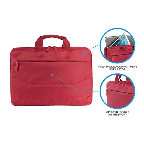 Tucano Idea B-IDEA-R, Borsa slim per Ultrabook 15' e notebook 15.6', Rosso