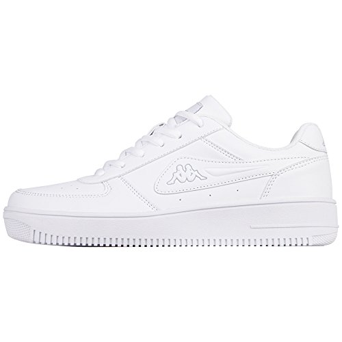 Kappa Bash, Baskets Mixte Adulte Weiß (1014 white/l´grey)