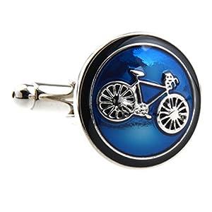 Covink® Fahrrad Manschettenknöpfe Radfahren Radfahren Symbol Runde Manschettenknopf Set Manschettenknöpfe Manschettenknöpfe EIN Paar