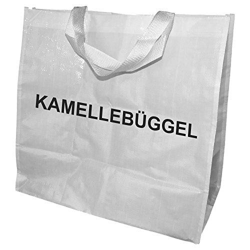 Beute Tasche (Kamellebüggel - Kamellebeutel für Wurfmaterial Tasche für Karneval, Fastnacht, Fasching (Weiß))