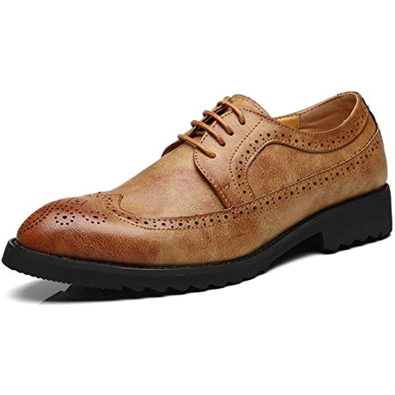 HYLDL Vintage Chaussure Homme Cuir Gravure Vintage HYLDL Confortable élégante Chaussures en Cuir - B07JLF1MNT - bf02b2