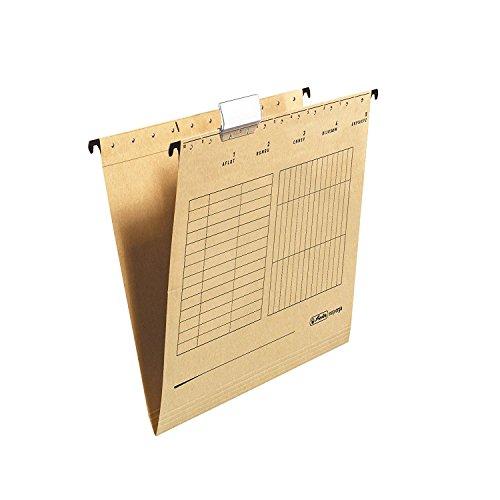 Herlitz 10843357 Hängemappe A4, Kraftkarton verpackt seitlich offen (2 Kartons = 50 Stück)