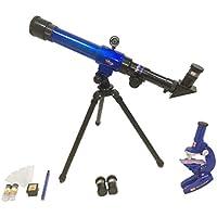 Sharplace C2110 Telescopio Refractor Astronómico con LED Microscopio para Niño Principiante