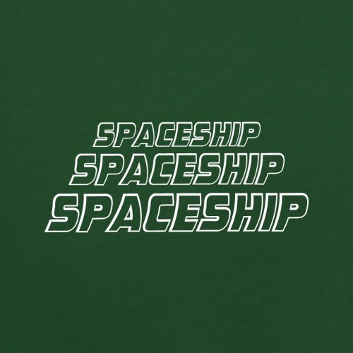 Space Ship - Herren T-Shirt - 13 Farben Flaschengrün