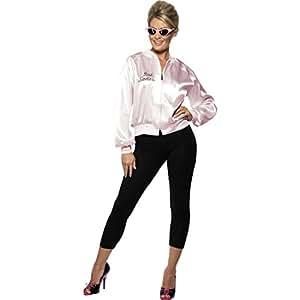 Années 50 années 60 Grease rock 'roll déguisement veste pour femme tenue rose Taille S 36/38 fifties costume carnaval déguisement pour femme Mardi gras