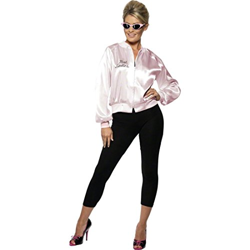 NET TOYS 50er 60er Jahre Grease Rock n Roll Kostüm Lady Jacke Outfit pink S 36/38 Fifties Faschingskostüme Karnevalskostüme Damen (Ladies-kostüm Grease Pink)