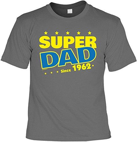 T-Shirt Super Dad Since 1962 T-Shirt zum 55. Geburtstag Geschenk zum 55 Geburtstag 55 Jahre Geburtstagsgeschenk 55-jähriger Anthrazit