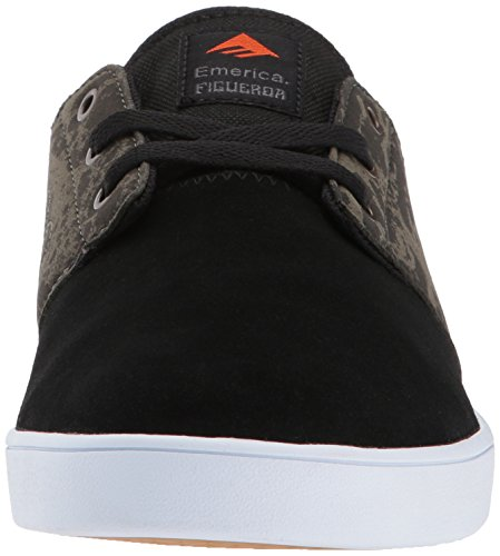 Emerica The Figueroa, Herren Skateboardschuhe Black/Green/Gum