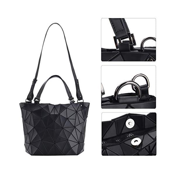 41V8Kdg6qKL. SS600  - VBIGER Bolso Geométrico Mujer Bolso de Hombro Mujer Estilo Shopper Bolso de Mano Nergo (Negro)