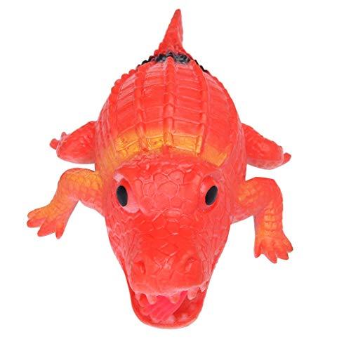 Cardith 14cm Humorvoller heller herziger lustiger Krokodil-Stress-Ball spielt Squeeze Integration Box