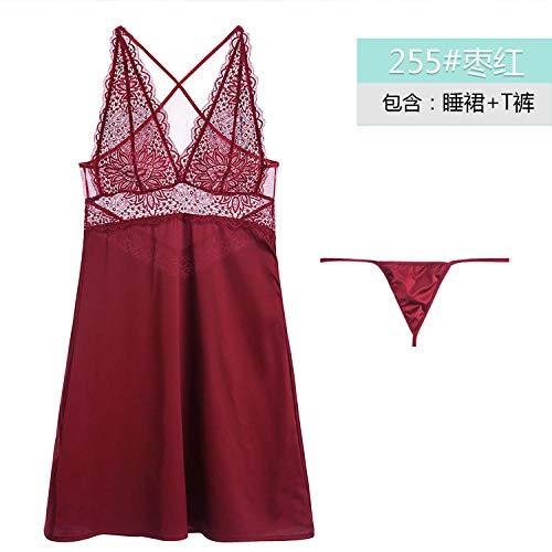 Sexy Damenwäsche Neue sexy Spitze Europa und Amerika sexy Damenwäsche Set High-End-Nachthemd @ Jujube