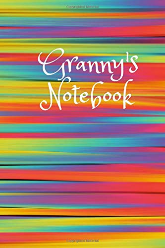 Granny's Notebook: Cute Colorful 6X9 110 Pages Blank Lined Soft Cover Notebook Planner Composition Book