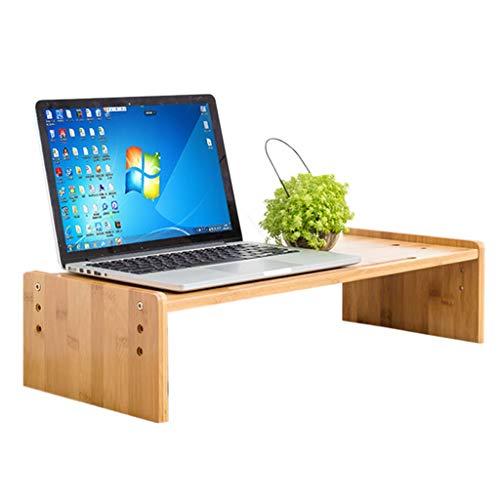 Ace Tastatur (Ace xiangyv Bambusholz Monitor Riser Lift Basishalterung, Monitor/Laptop/TV-Halterung, mit Kartensteckplatz, Bett kleinen Schreibtisch, Schlafzimmer Leserahmen - 50cmX25cmX14cm)