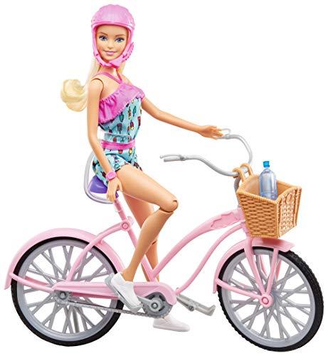 Barbie FTV96 - Puppe mit Fahrrad und Zubehör, Puppen und Puppenzubehör ab 3 Jahren