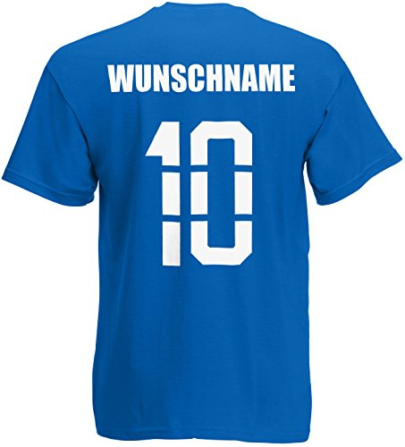 Frankreich France T-Shirt Trikot Name Nummer Royalblau
