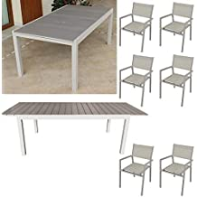Tavolo Quadrato Allungabile Da Esterno.Amazon It Tavoli Allungabili Da Giardino