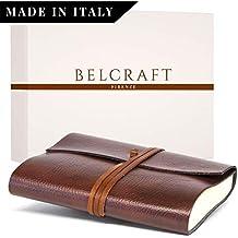 Tivoli Diario/Taccuino in Pelle riciclata, Realizzato a mano da Artigiani Toscani, Include Scatola Regalo, A5 (15x21 cm) Marrone
