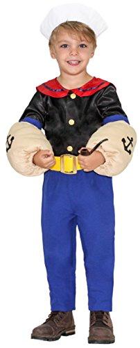 COSTUME di CARNEVALE da PICCOLO MARINAIO vestito per bambino ragazzo 1-6 Anni travestimento veneziano halloween cosplay festa party 51043 Taglia 6