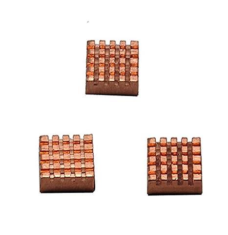 Aluminium Dissipateur thermique de refroidissement Cooler pour Raspberry Pi 3Modèle B/PI 2Modèle B/PI B Dissipateur thermique de refroidissement Cooler 3pcs pour Raspberry Pi 3Modèle B/PI 2Modèle B/PI B