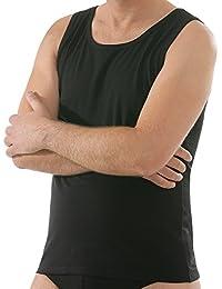 Comazo Herren Unterhemd - Shirt ohne Arm - Mit Rundhals-Ausschnitt -  Unterwäsche aus hautfreundlicher 96c6107283
