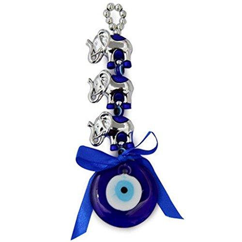 Odishabazaar 3elefante ojo pared y coche para colgar amuleto protecc