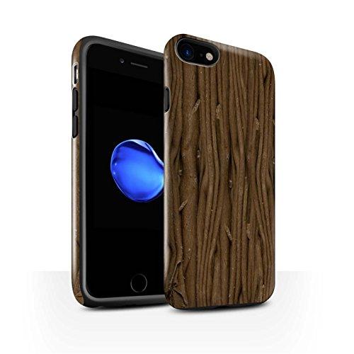 STUFF4 Glanz Harten Stoßfest Hülle / Case für Apple iPhone 7 / Galaxie-Welle Muster / Schokolade Kollektion Flocke