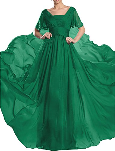 ivyd ressing robe robe de soirée ligne haute qualité pierres manches courtes A Prom Lave-vaisselle robe robe du soir Vert