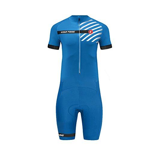Uglyfrog MUEN19 Wear Bike Plus Body Estivo Manica Corta Ciclismo, Rosso, Italy Team/Italy Flag