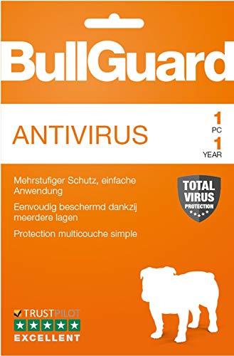 Bullguard Antivirus 2019 - Lizenz für 1 Jahr und 1 PC! Windows 10|8.1|8|7|Vista [Online Code]