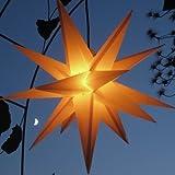 Estrella al aire libre 65 cm, iluminado estrella, 3 coloures a elegir, Poinsettia estrella de plegado, amarillo, ca. 65 cm