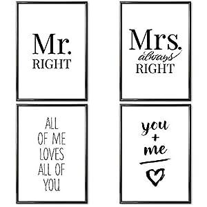 Heimlich® Premium Poster (4 Stück in DIN A3) | Viele weitere Motive im Shop | ohne Rahmen » Love «
